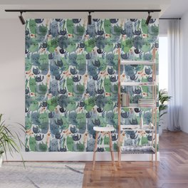 A Quiet Cacophony of Cats Wall Mural
