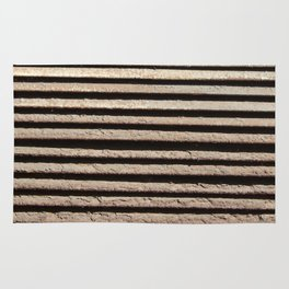 A metal grill texture for construction and windows Rug