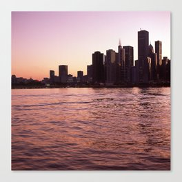 Chicago Skyline by Lindsay Blair Brown Canvas Print