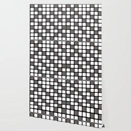 BLACK GREY AND WHITE RECTANGLE TILE  {BASIcs JHD} Wallpaper