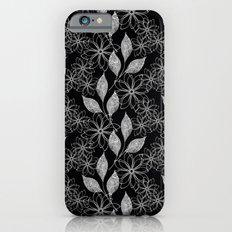 Abstract floral black and white pattern. iPhone 6s Slim Case