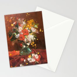 Pierre François Eugène Giraud - Bouquet of country flowers (1806-1881) Stationery Cards