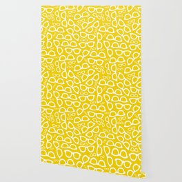 Smart Glasses Pattern - Yellow Wallpaper
