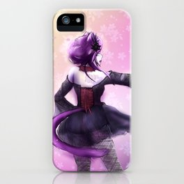 Liatris, Dramatic Goth Catlady iPhone Case