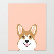 Shelby - Welsh Corgi gifts with corgi illustration for dog people and corgi owner gifts dog gifts Canvas Print