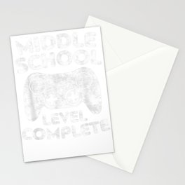 Middle School Level Complete T-Shirt Class Of 2019 Gift T-Shirt Stationery Cards