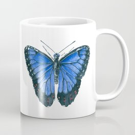 Blue Morpho butterfly watercolor painting Coffee Mug