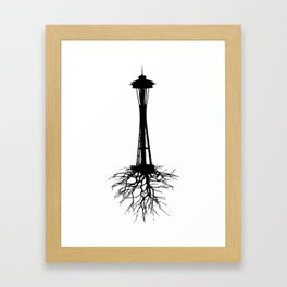 Seattle Roots Framed Art Print