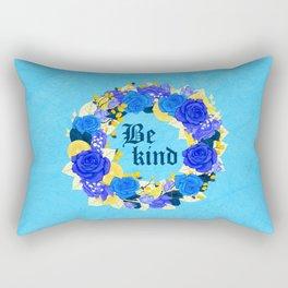 Flower wreath | Be kind Rectangular Pillow