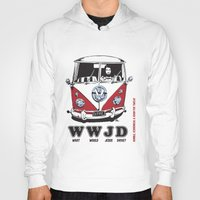 volkswagon Hoodies featuring WWJD ?   What  Would Jesus Drive ? by BulldawgDUDE