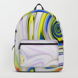 Waves and swirls, abstract, patterns piece no 14 Backpack