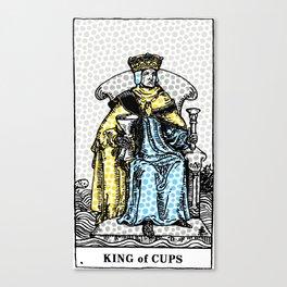 Modern Tarot Print - King Of Cups Canvas Print