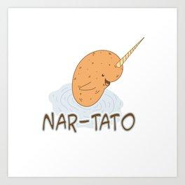 NAR-TATO- Narwhal Meets Potato Art Print