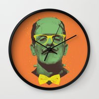 frank Wall Clocks featuring Mr Frank by Victor Vercesi