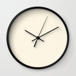 Cream - Solid Color Collection Wall Clock