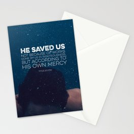 Titus 3:5 Stationery Cards