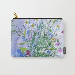 Meadow flowers - watercolor painting Carry-All Pouch