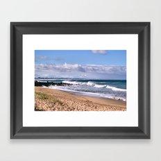 Bashams Beach Framed Art Print