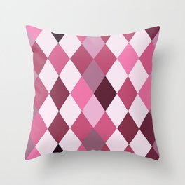 Pink Roses in Anzures 2 Harlequin 1 Throw Pillow