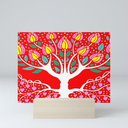 Love Grows Forever - Tomato Red Mini Art Print