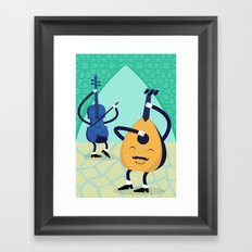 Arabic tunes Framed Art Print