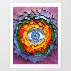 Rainbow Burn Art Print