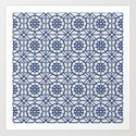 Azul Tiles II - Blue on White  (Patterns Please) by lalainelim