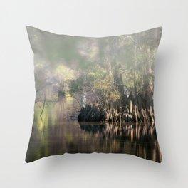 Morning Fog, Stumpy Lake Natural Area Throw Pillow