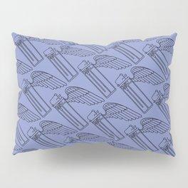 Flying Lighter Pattern - Blue Violet Pillow Sham