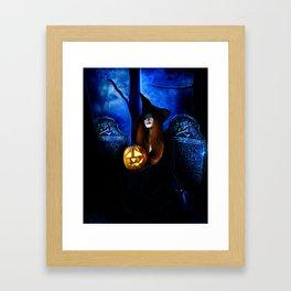 Samhain Witch Framed Art Print