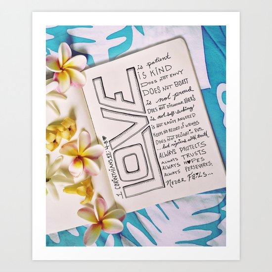 Love is... Art Print
