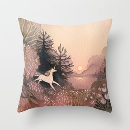 Blooming Forest Throw Pillow
