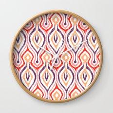 Sketchy Ikat - Nebula Wall Clock