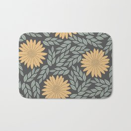 Autumn Flowers Bath Mat