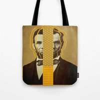lincoln Tote Bags featuring AbracadAbraham - Lincoln by AmDuf