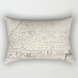 A new map shewing the travels of the patriarchs, as also of the children of Israel, from Egypt through the wilderness to the land of Canaan.Additional Rectangular Pillow