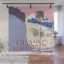 Lake Placid Olympic bobsled run Wall Mural