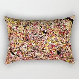 TENDER SUN - Jackosn Pollock style drip painting art design, dripping design, splash patern modern art Rectangular Pillow