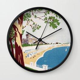 Vintage Nettuno Italy Travel Poster Wall Clock