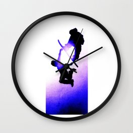 Free Fall II Wall Clock