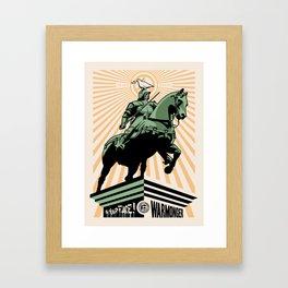In your face warmonger version 3 - orange Framed Art Print