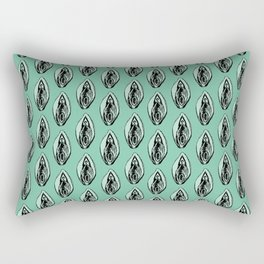Vulves bleues - Blues vulvas Rectangular Pillow