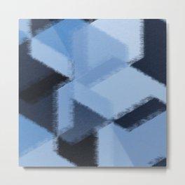 Warm Blue Fuzzies Metal Print