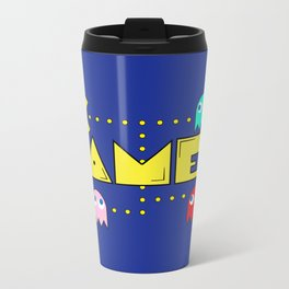 Classic Gamer: Pacman Metal Travel Mug
