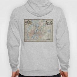 Vintage Map of Stockholm (1733) Hoody