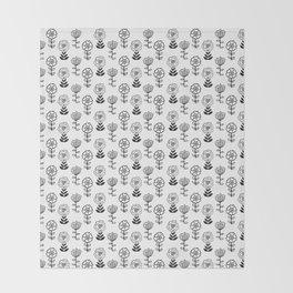 Doodle Garden Throw Blanket