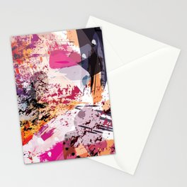 7: a vibrant abstract in jewel tones Stationery Cards