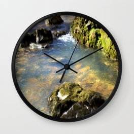 Alone in Secret Hollow with the Caves, Cascades, and Critters, No. 8 of 20 Wall Clock