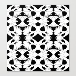 Black and White Tile 2 Canvas Print
