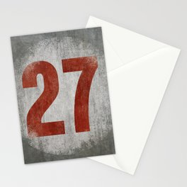 Vintage Auto Racing Number 27 Stationery Cards